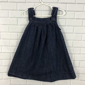 GAP Baby Gap Denim Button Dress 2yr